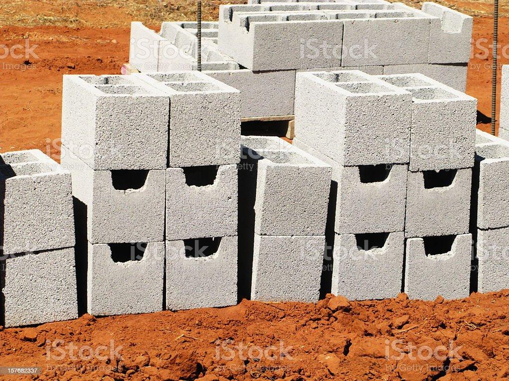 Concrete Blocks New Construction stock photo