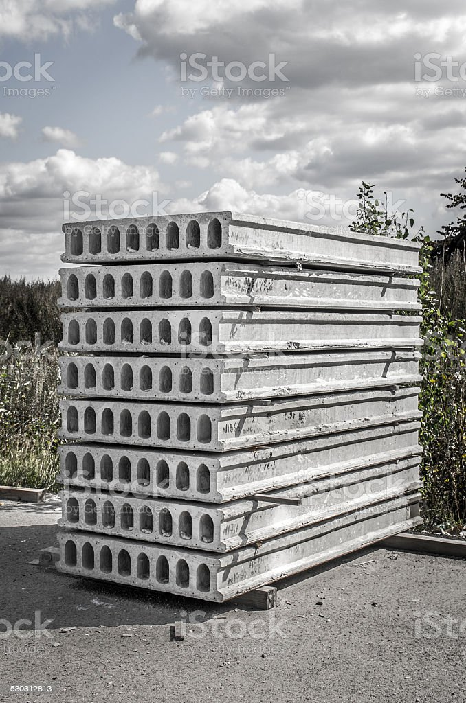 Concrete board of construction stock photo