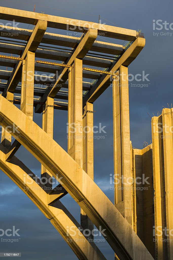 Concrete bridge construction royalty-free stock photo