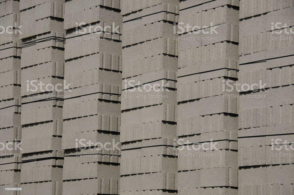 4' Concrete building blocks. royalty-free stock photo