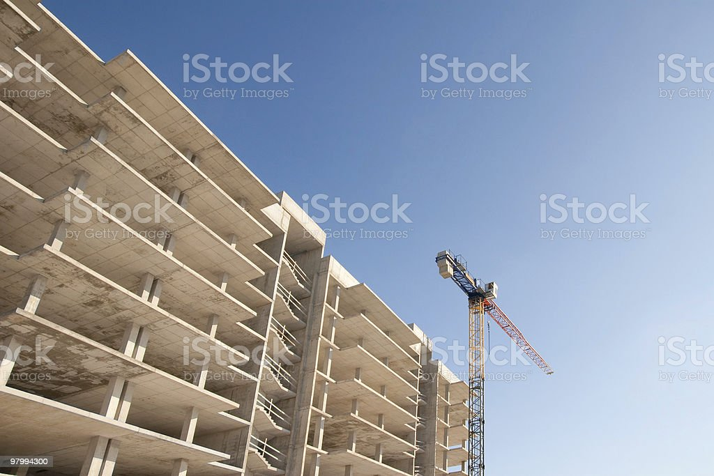 concrete building royalty-free stock photo