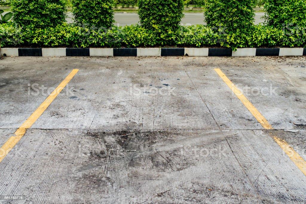 Parc de stationnement de béton photo libre de droits
