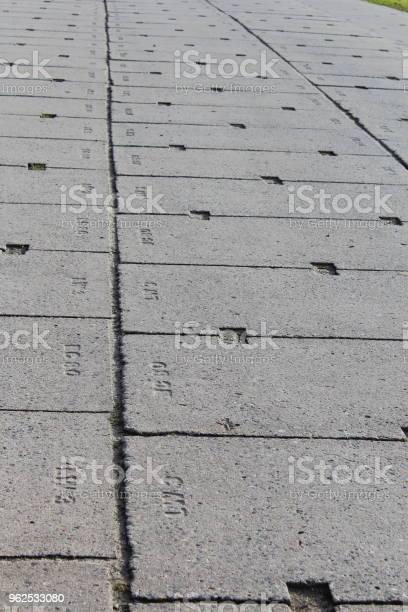 Foto de Faixa De Rodagem Concreta Feita De Blocos De Concreto e mais fotos de stock de Alemanha