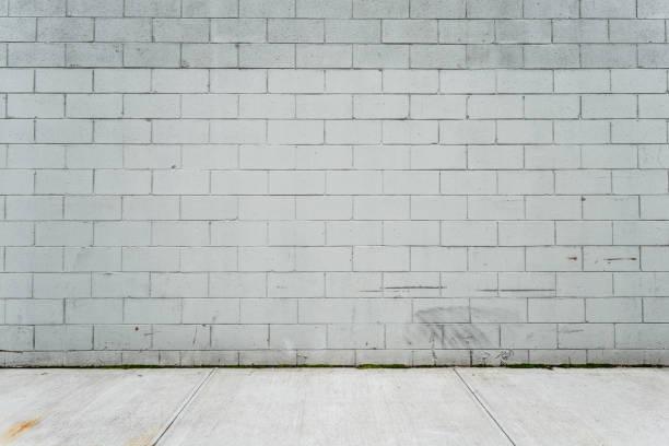 cinder betonblock wand - betonblock wände stock-fotos und bilder