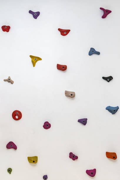 Concrete climbing wall stock photo