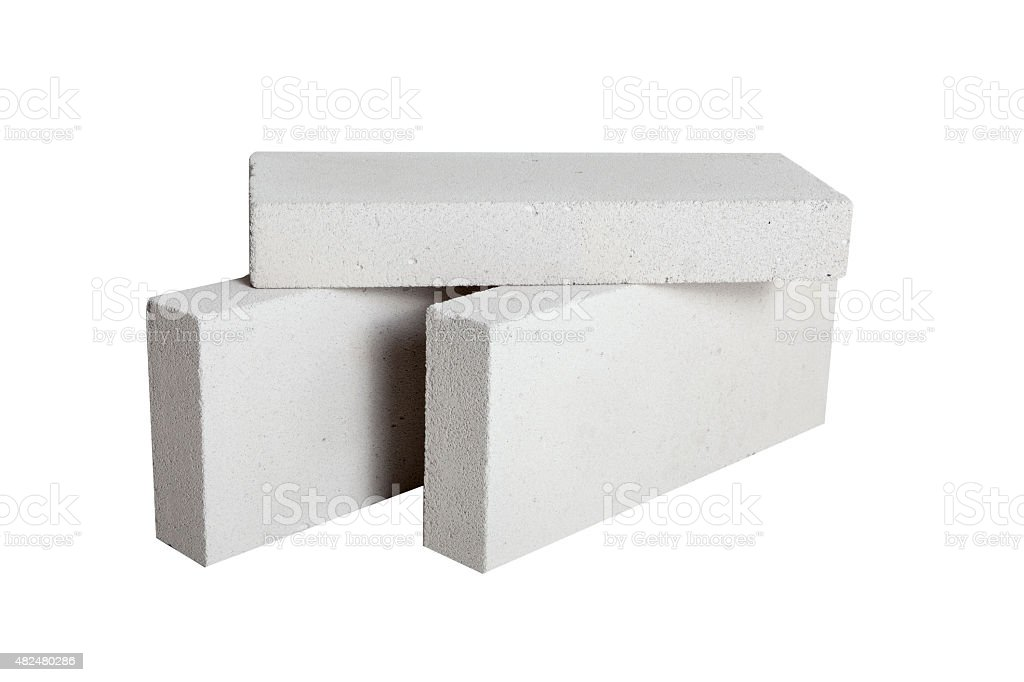 Concrete Construction Blocks (including clipping path) stock photo