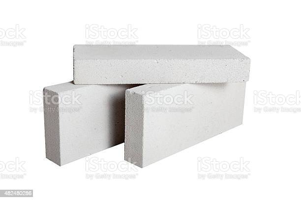 Photo of Concrete Construction Blocks (including clipping path)