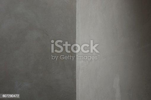 istock Concrete Corner Grey walls Abstract background geometric shadow 607290472