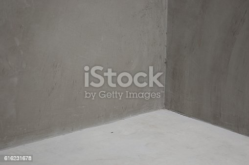 Concrete Corner Grey walls Abstract background geometric shadow composition