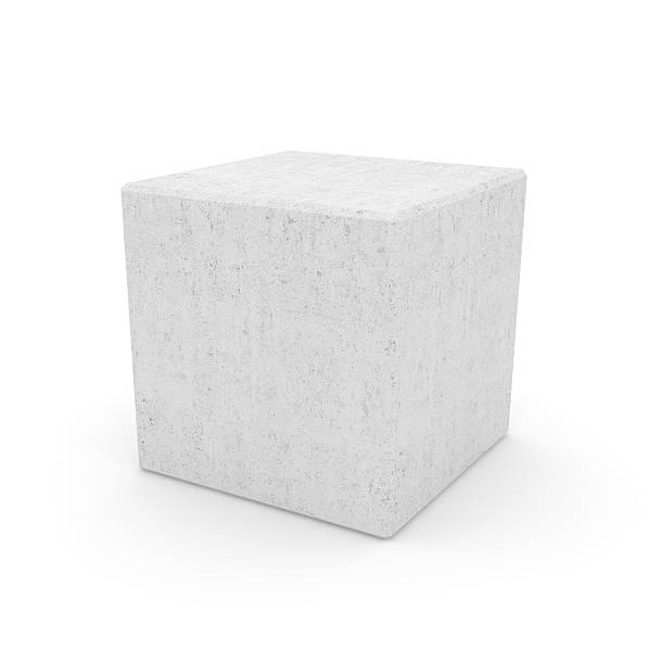Concrete Cube stock photo