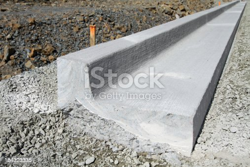 Concrete Curb Construction Cross Section Stock Photo Istock