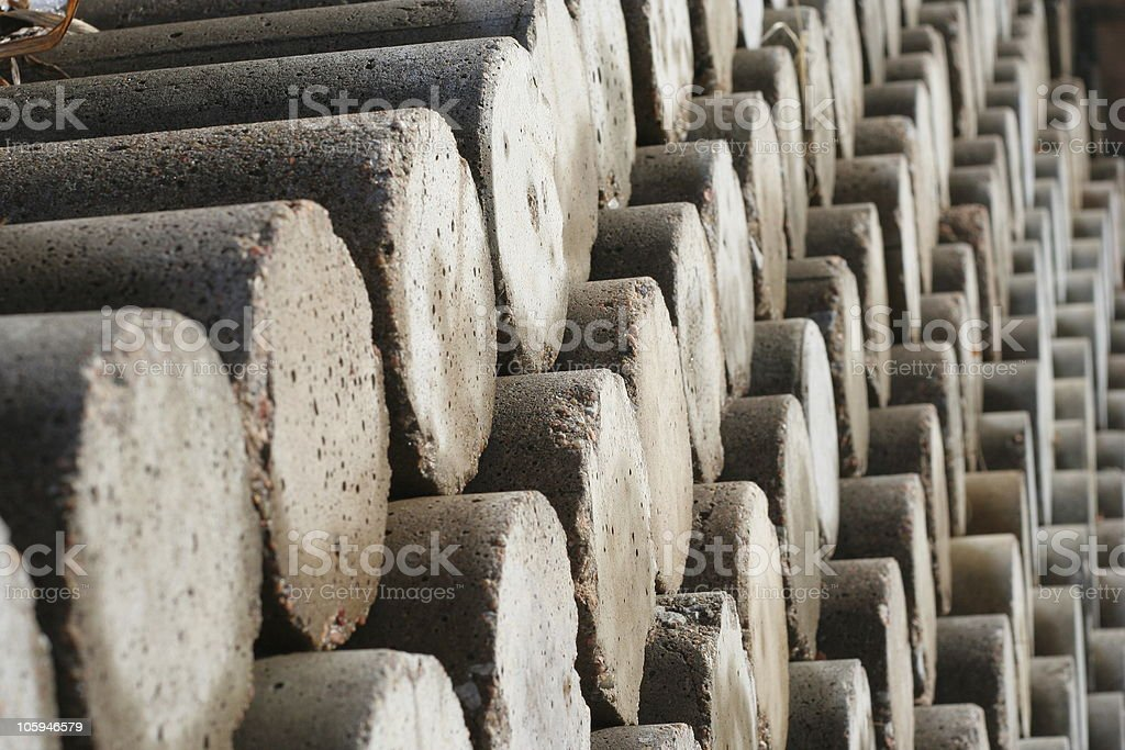 Concrete cylinders royalty-free stock photo