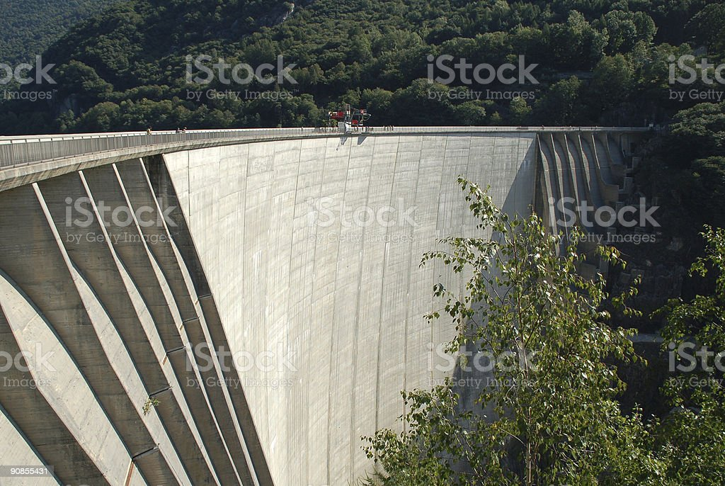 Concrete Dam stock photo