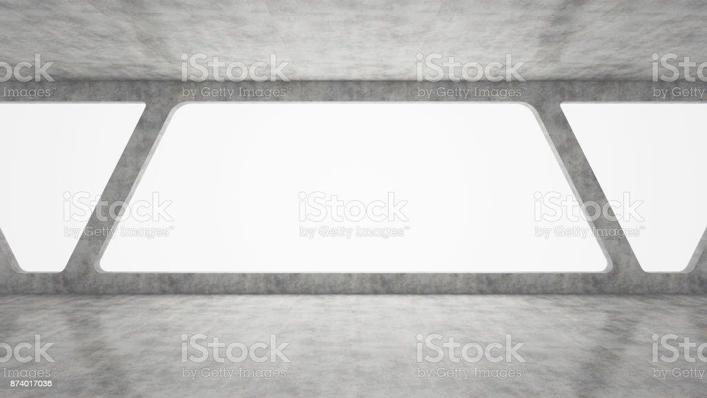 habitación vacía concreto - foto de stock