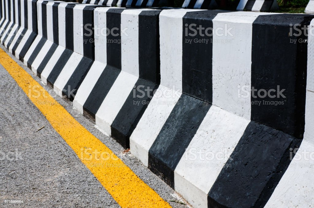 concrete fence stock photo