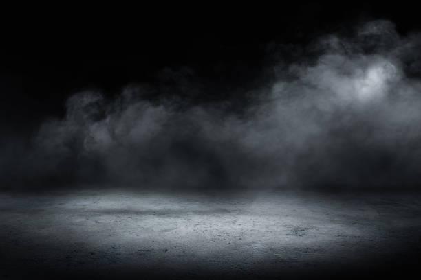 concrete floor and smoke background – zdjęcie