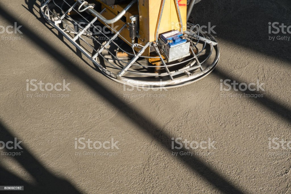 Concrete floor grinding machine stock photo