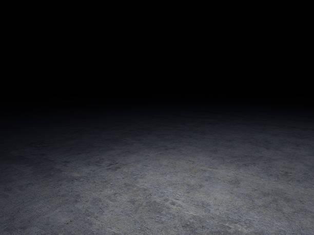 concrete floor with dark background stock photo