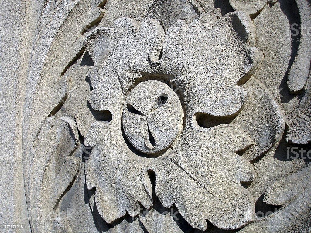 Concrete flower royalty-free stock photo