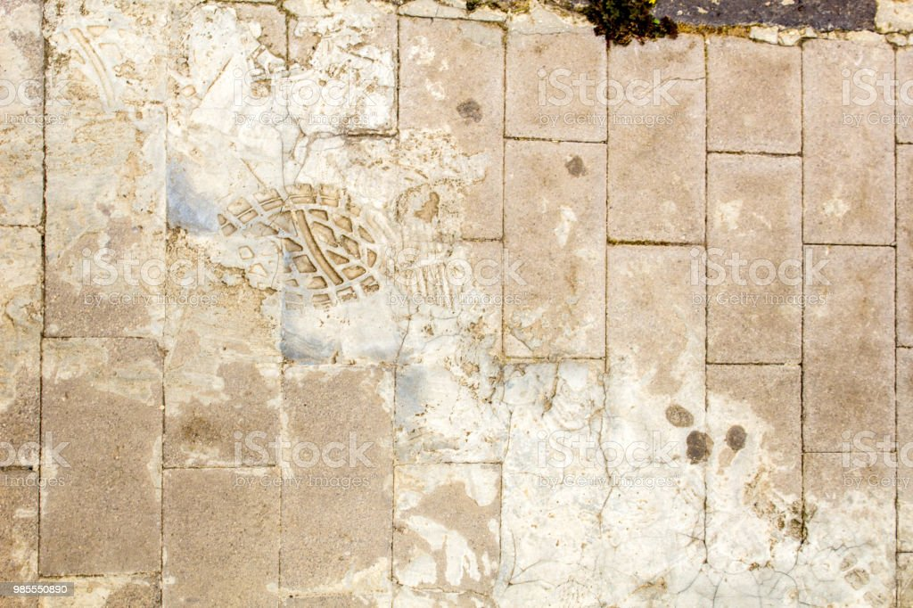 Concrete Footprint stock photo