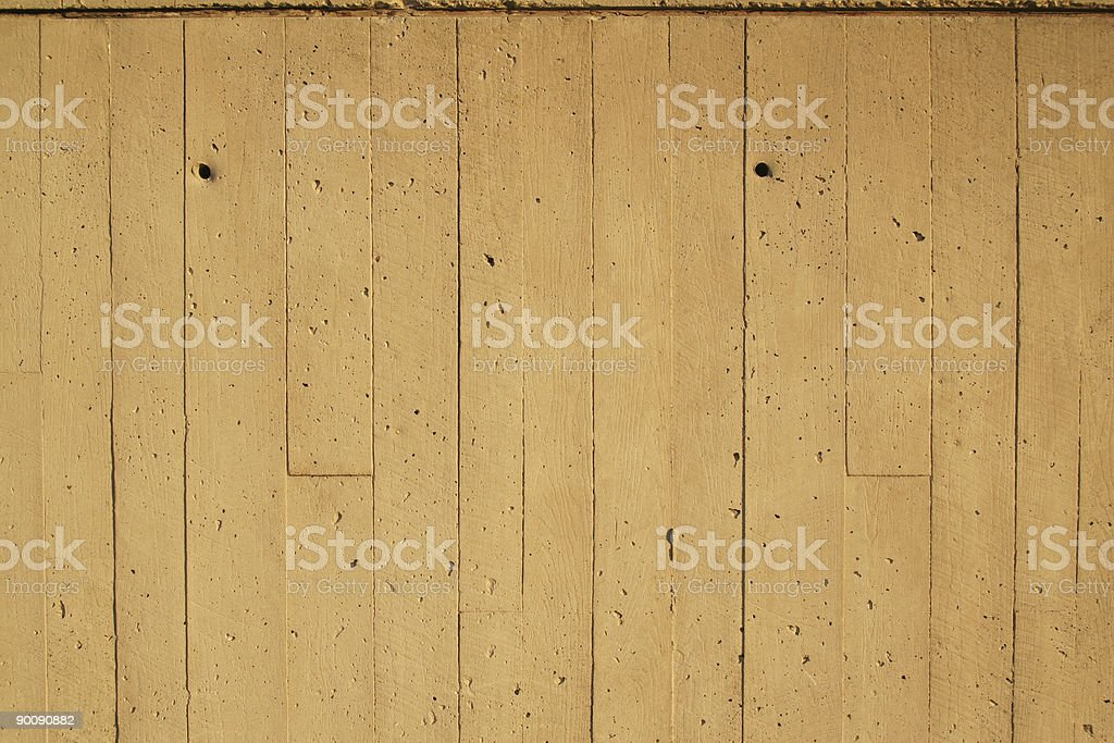 Concrete Formed As Woodgrain royalty-free stock photo