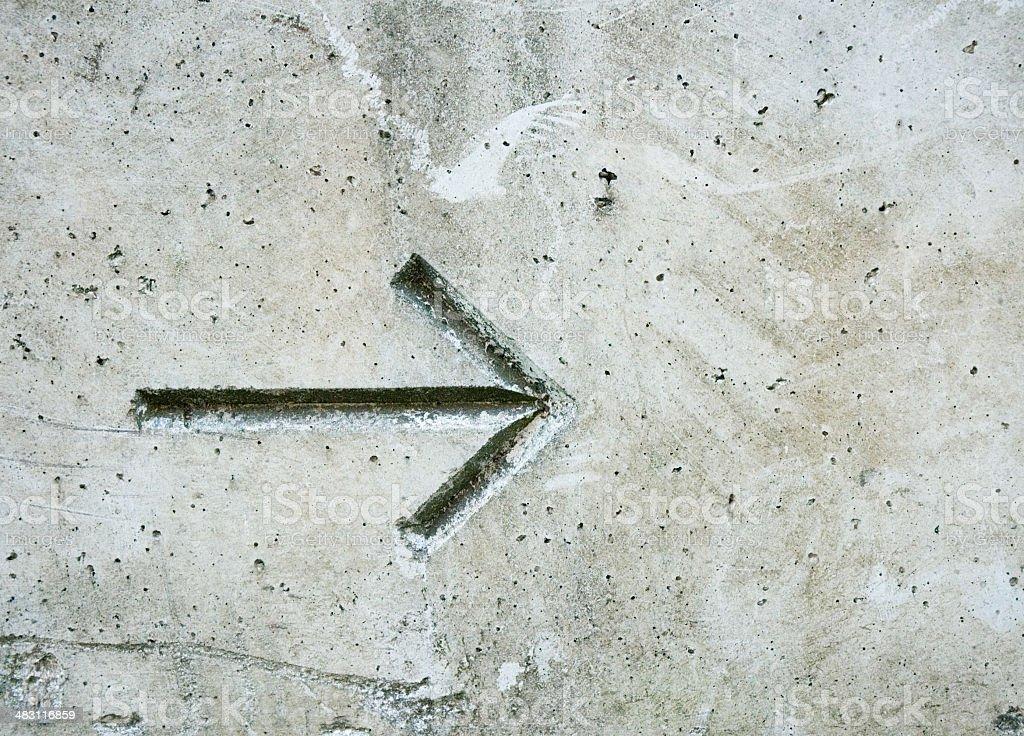 Concrete Grunge Arrow royalty-free stock photo