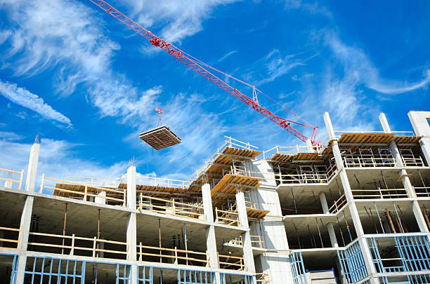 De gratte-ciel situé en béton Site de Construction - Photo