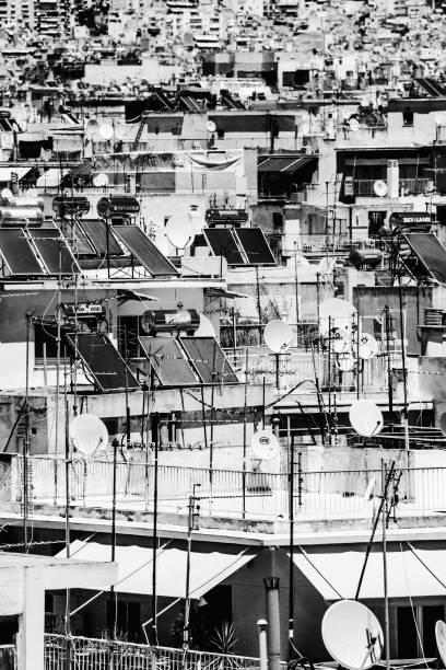 Concrete jungle - Athens, Greece stock photo
