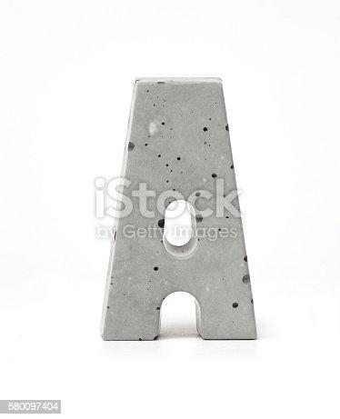 istock Concrete Letter A 580097404