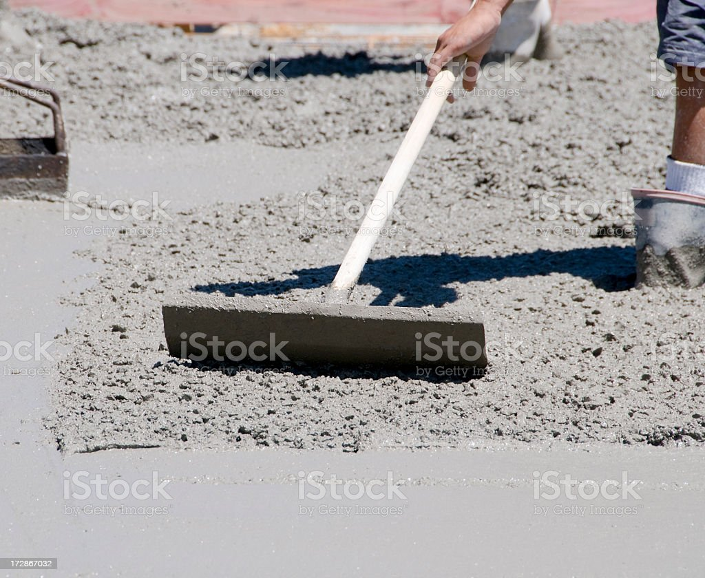Concrete Levelling royalty-free stock photo
