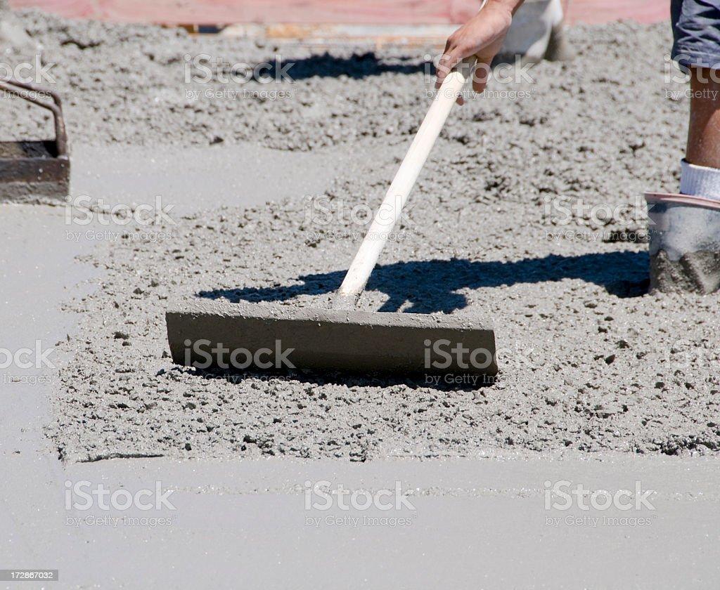 Concrete Levelling stock photo