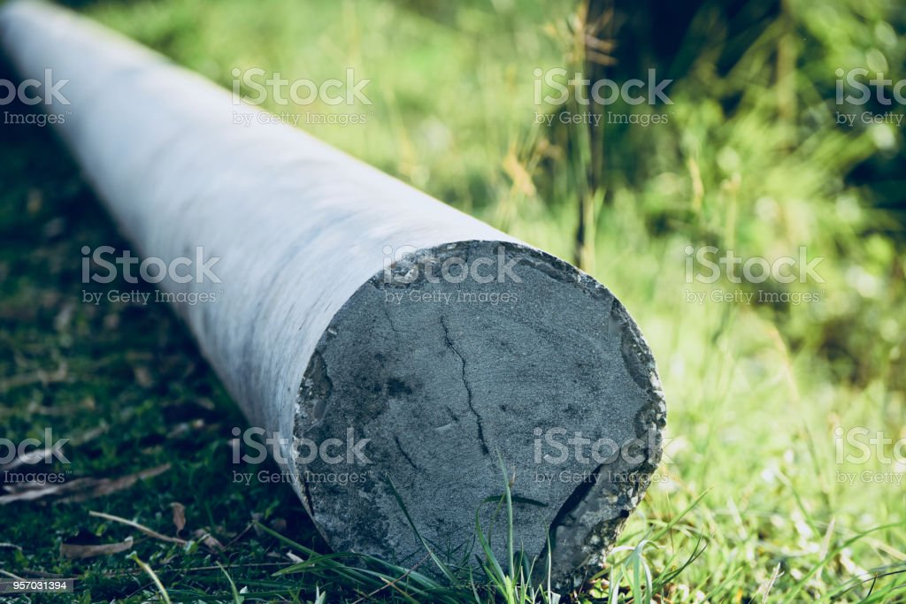 A concrete made electric pole isolated unique photo royalty-free stock photo