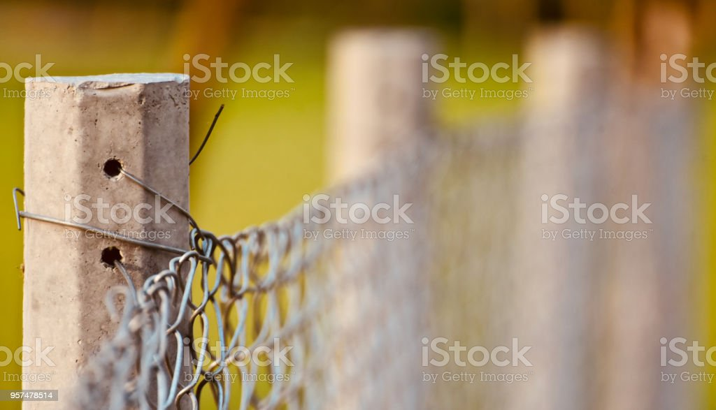 Concrete made object attached with metallic grill unique photo royalty-free stock photo