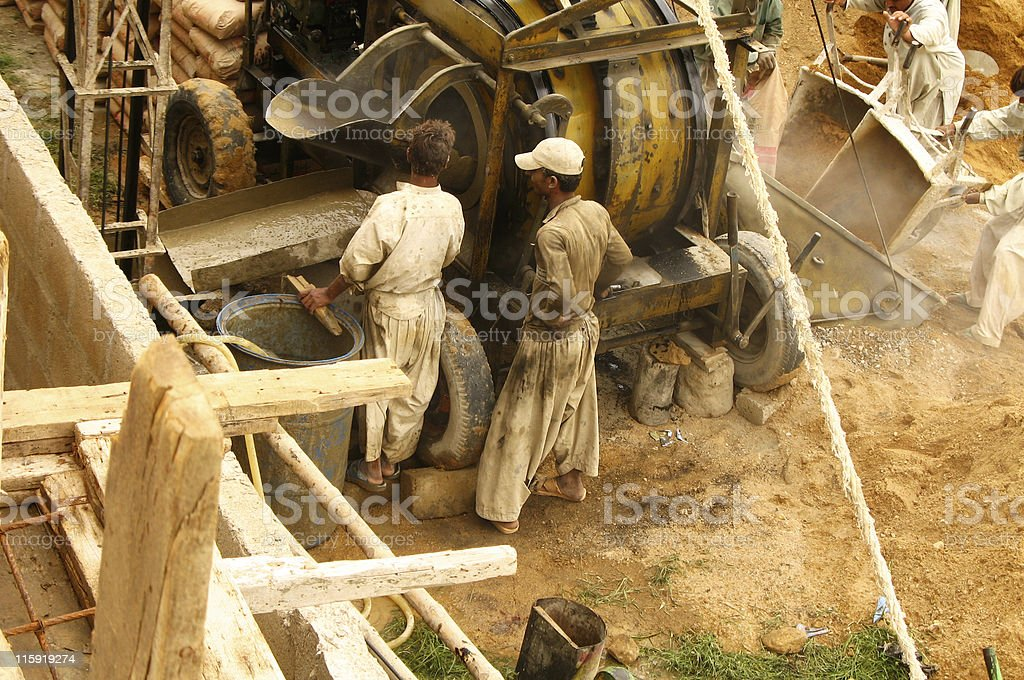 Concrete Mixer royalty-free stock photo