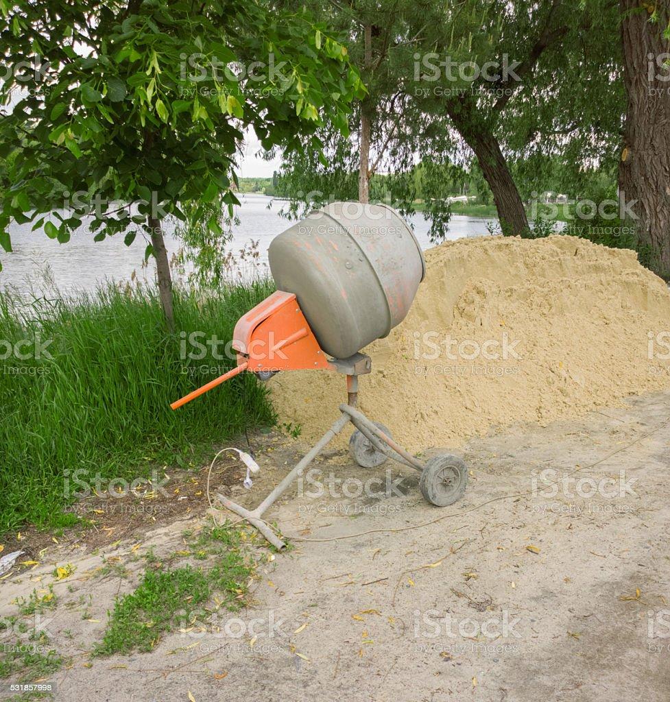 Concrete mixer. stock photo