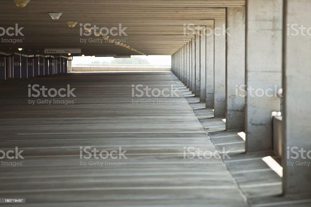 Concrete Parking Garage Interior royalty-free stock photo