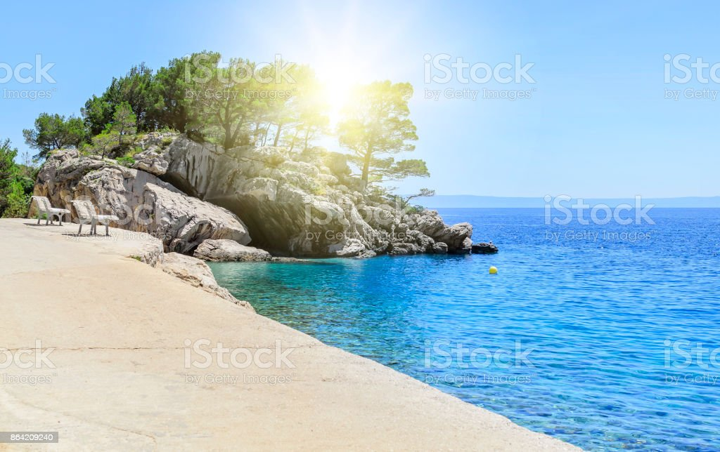 Concrete path by the sea. royalty-free stock photo