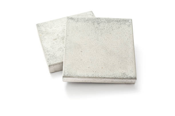 Concrete paving slab stock photo