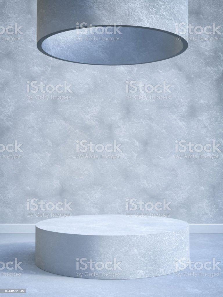 Concrete Pedestal stock photo