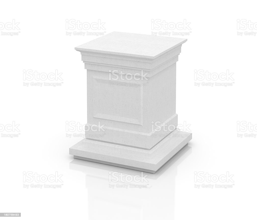 Concrete Pedestal royalty-free stock photo