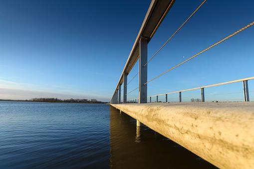 Concrete Pedestrian Bridge With Metal Railing In ...