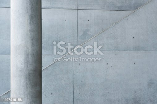 exterior detail of a modern building in Munich, Germany