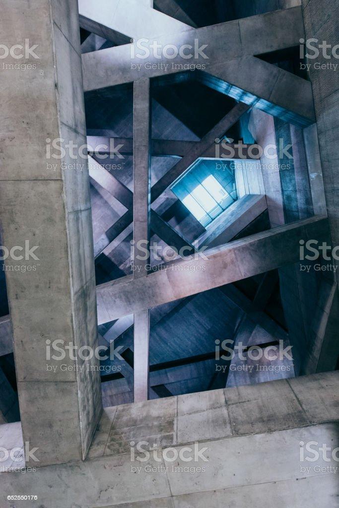 Concrete pillars stock photo