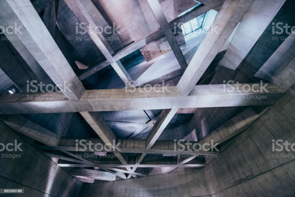 Concrete pillars stock photo