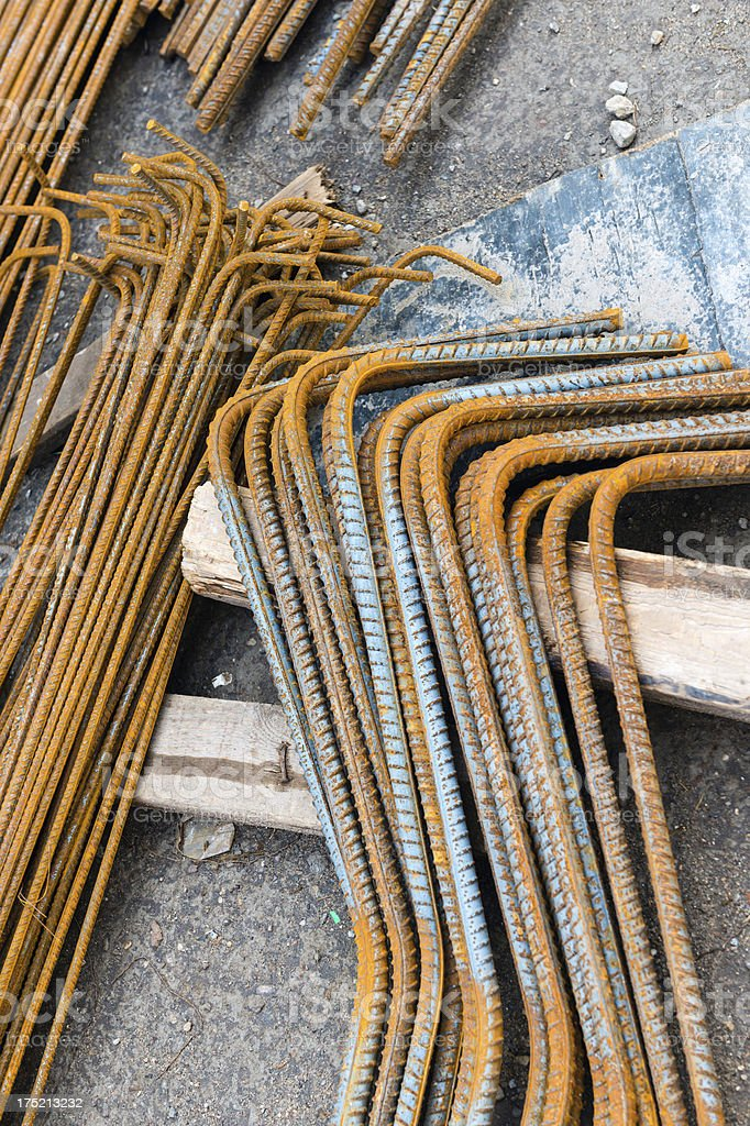 Concrete reinforcement steel royalty-free stock photo