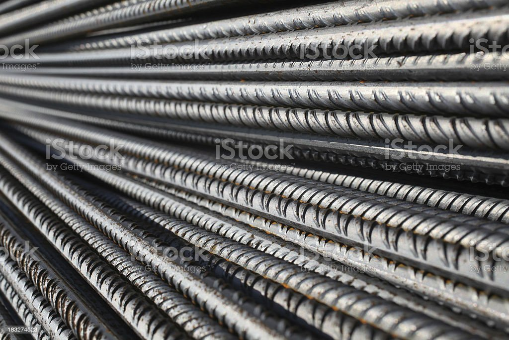 Concrete reinforcement steel stock photo