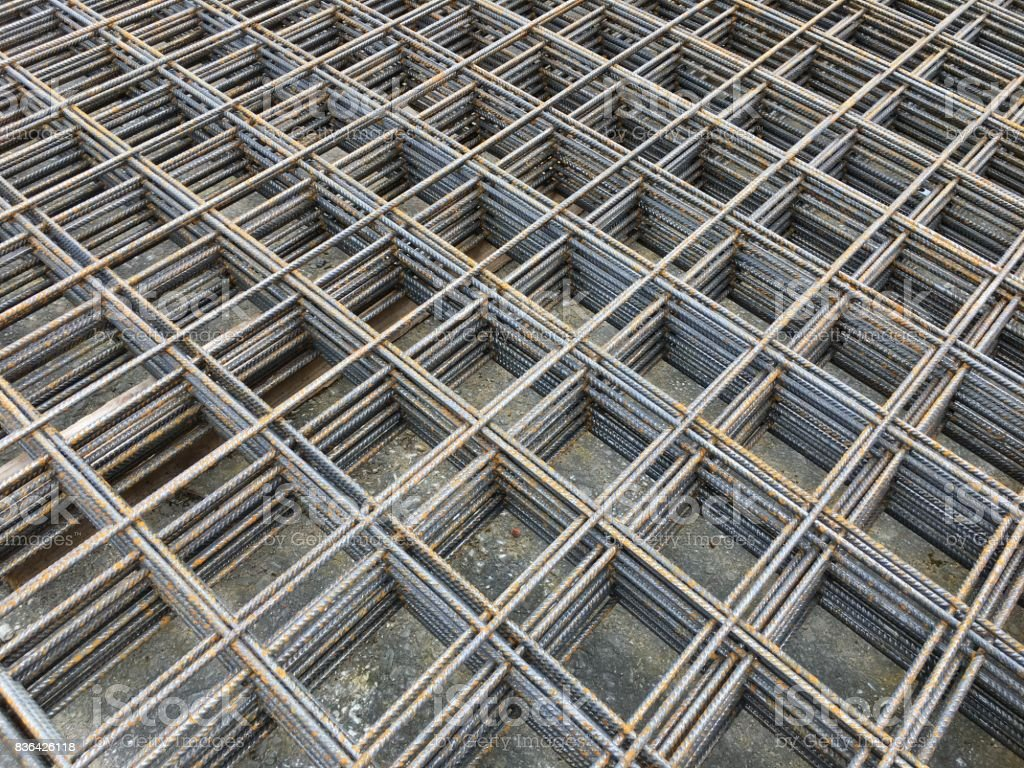 Concrete Reinforcing Welded Wire Mesh Stock Photo & More Pictures of ...