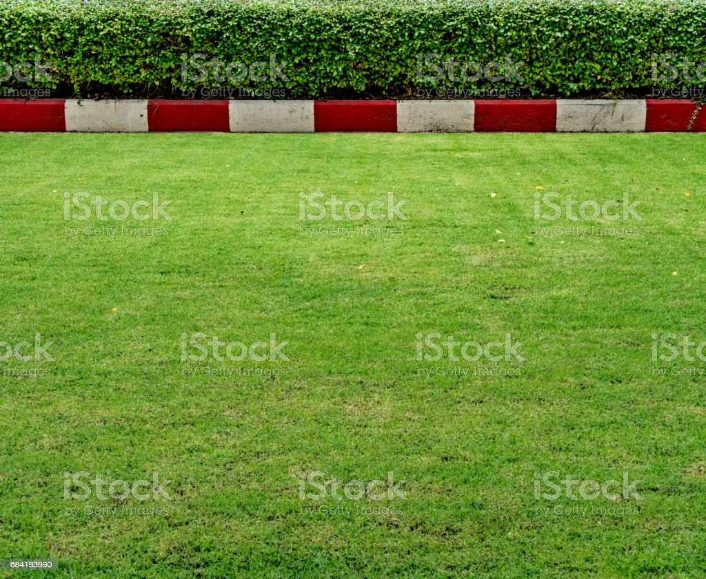Concrete road with red and white royalty-free stock photo