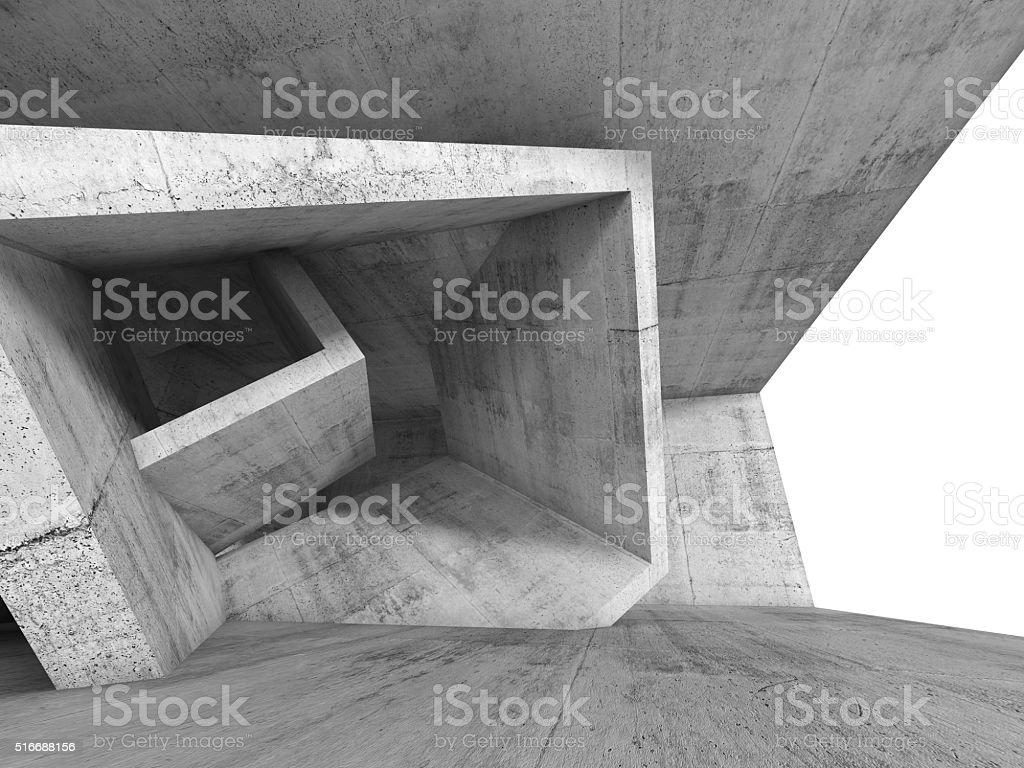 콘크리트 호실 내륙발 3d 입방 구조 royalty-free 스톡 사진