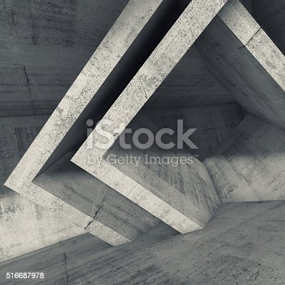 516688156istockphoto Concrete room interior with cubic structures 516687978